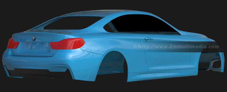 BMW F32 4 Series Coupe - test reflective render rear view