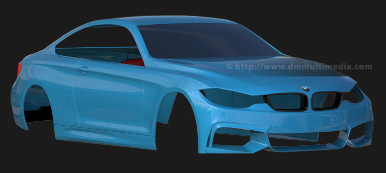 test reflective render front view