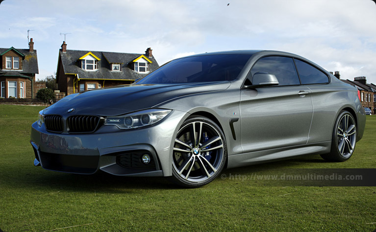 BMW F32 4 Series Coupe at the coast, low evening sun - Mineral Grey