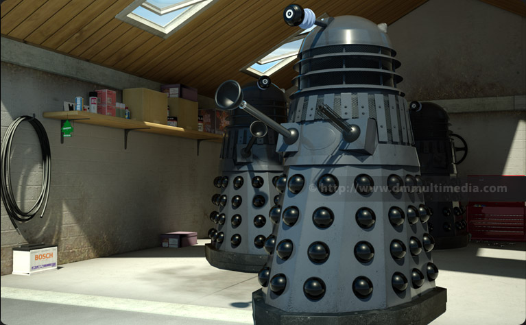Genesis Daleks come out from the garage