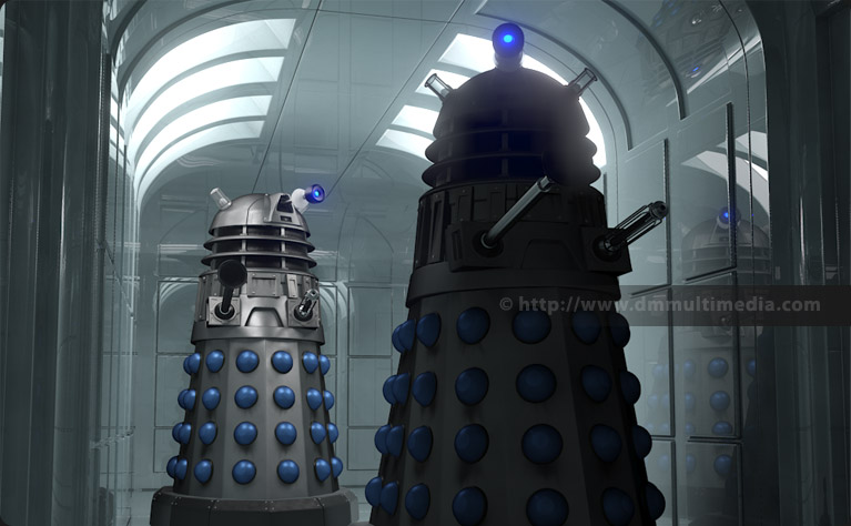 New Series Daleks in an SF corridor