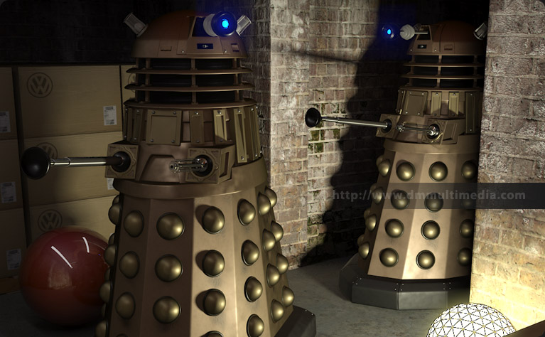 New Series Daleks scene