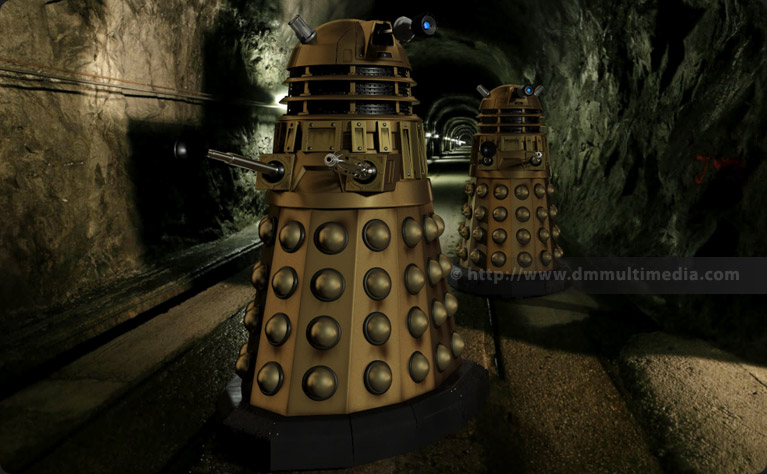 New Series Daleks in a subterranean setting