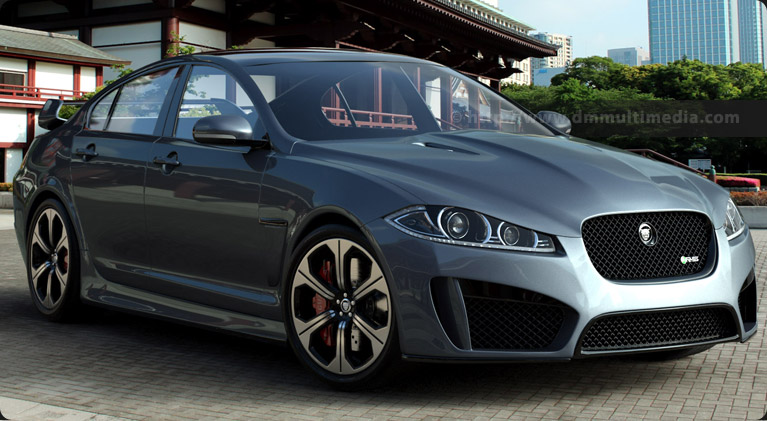 Test render of the Jaguar with modelled headlights