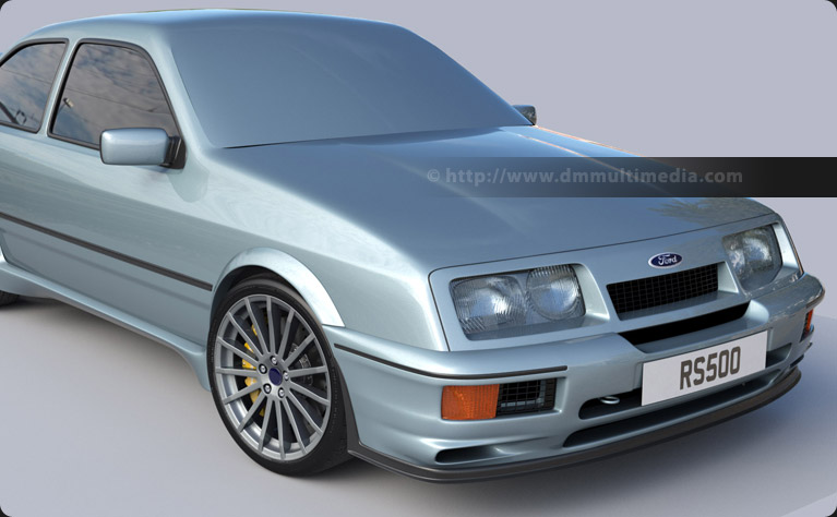 Ford Sierra Cosworth RS500 - creating front lights, indicators, grills and testing Moonstone Blue paint