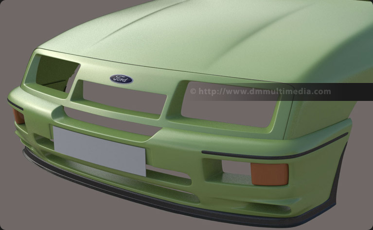 Ford Sierra Cosworth RS500 - Refining the front grill with Cosworth intake