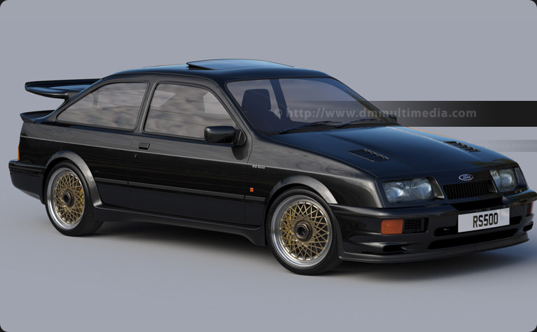 Ford Sierra Cosworth RS500 - Continued refining, adjusted rear spoiler and sunroof added