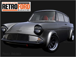 Retro Ford Anglia Wallpaper