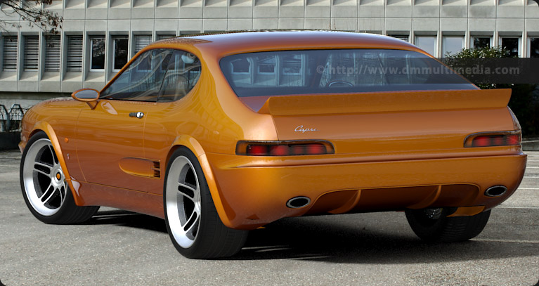 Ford Capri MK IV rare rear view, on standard alloys