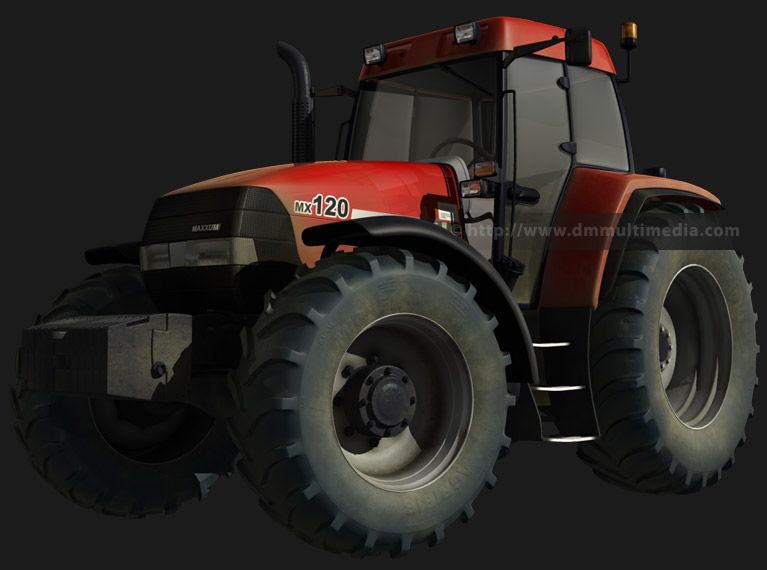 Case MX120 Maxxum Tractor 3D model