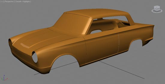 More definition to the wheel arch lips and separating the doors