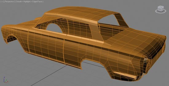 Wireframe rear view