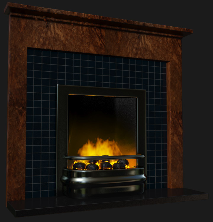 3ds max fireplace render tests