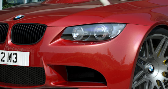BMW E92 M3 in Red - Close-up