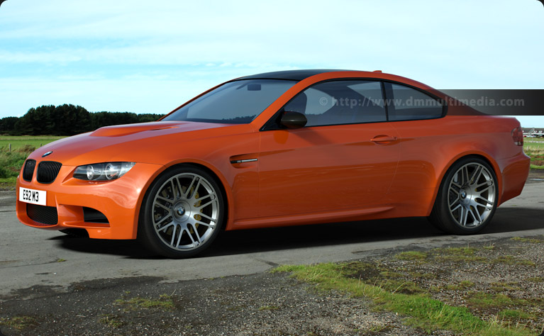 BMW E92 M3 in in Racing Orange