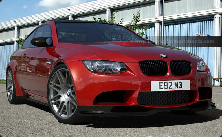 BMW E92 M3 in Red