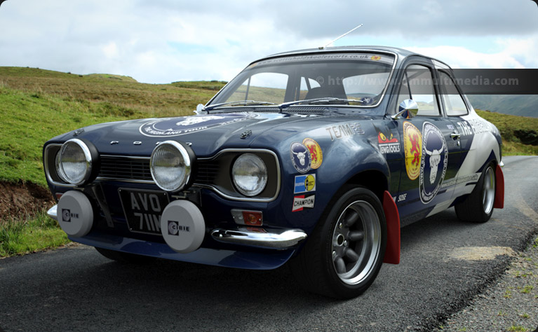 Escort MK1 Rally spec on the moors