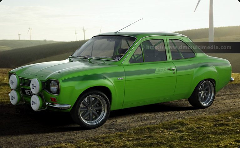 Escort MK1 Mexico Big WIng in Le Mans Green with Dark Green Stripes