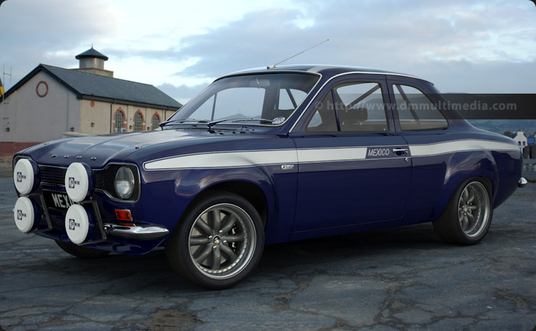 "Escort MK1 Mexico in Navy Blue with White Stripes and 15"" Image Alloys"