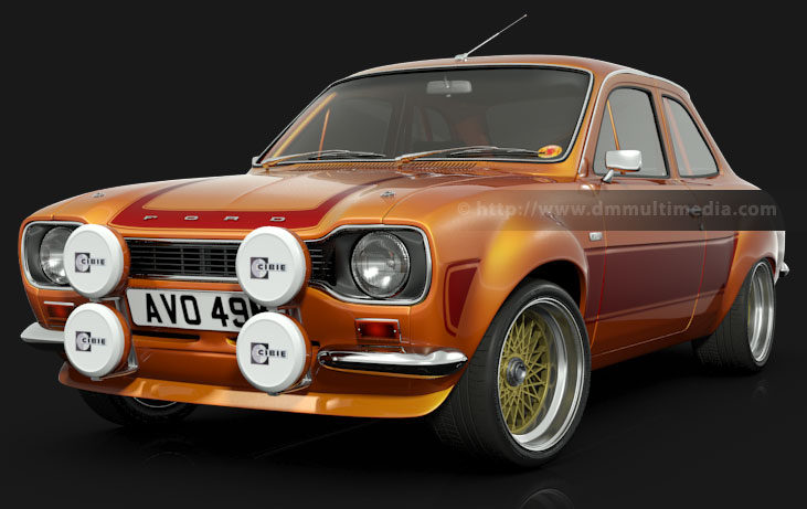 Escort MK1 RS2000 on large alloy whels