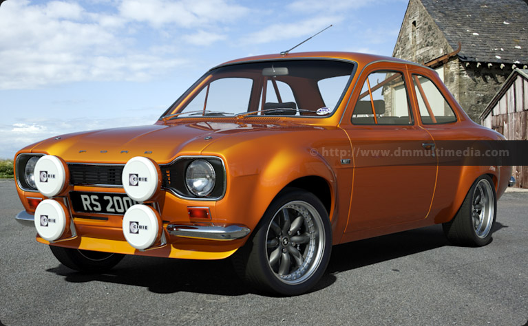 Escort MK1 Big Wing in Orange
