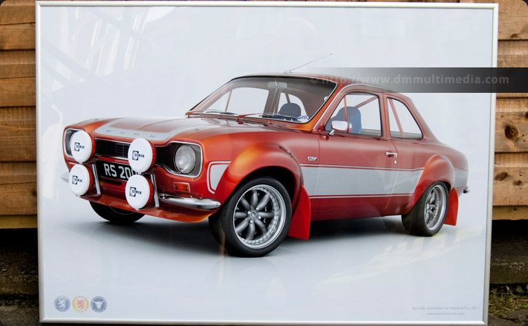 Escort MK1 Big WIng in Roman Bronze with Carbon Fibre Matte Black Stripes