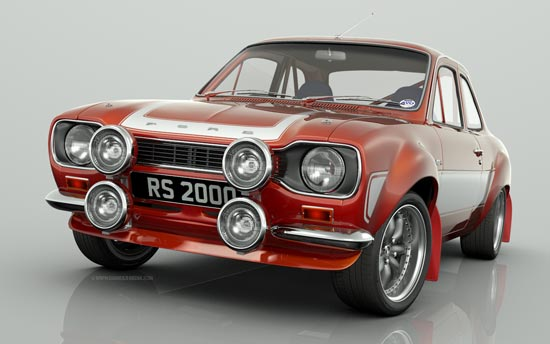 Cherry Red / White stripes Escort RS2000 Big Wing