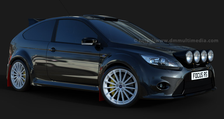 Ford Focus MK2 in Sparkling Graphite Metallic, Rally Spec : Spotlights Pod, Roof Vent