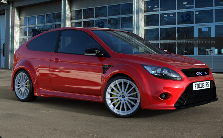 Ford Focus MK2 RS in High Gloss Rosso Red