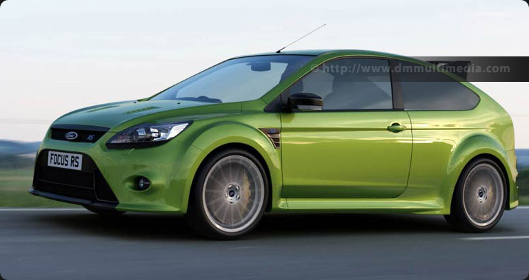Ford Focus MK2 RS at speed - using HDRI set from SMcars