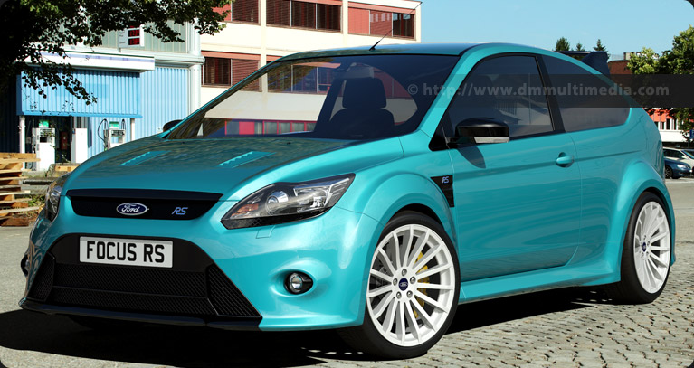 Ford Focus MK2 in light blue