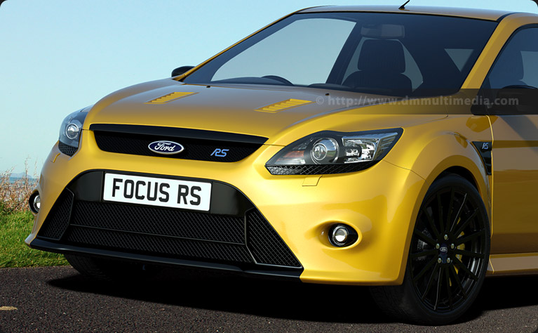 Ford Focus MK2 in Mustard Yellow with gloss black wheels