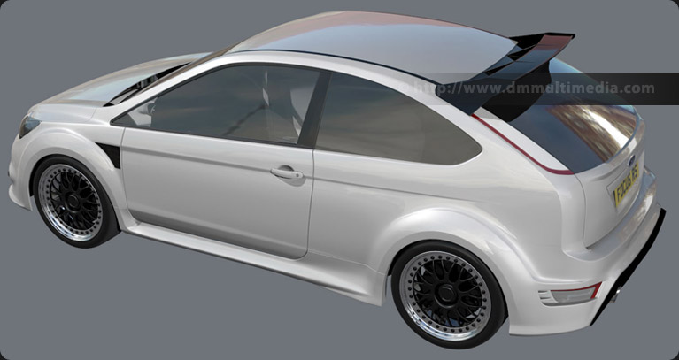 Ford Focus MK2 RS in White - test render