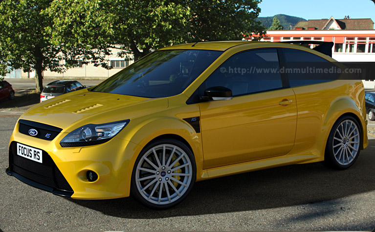 Ford Focus MK2 RS bright yellow