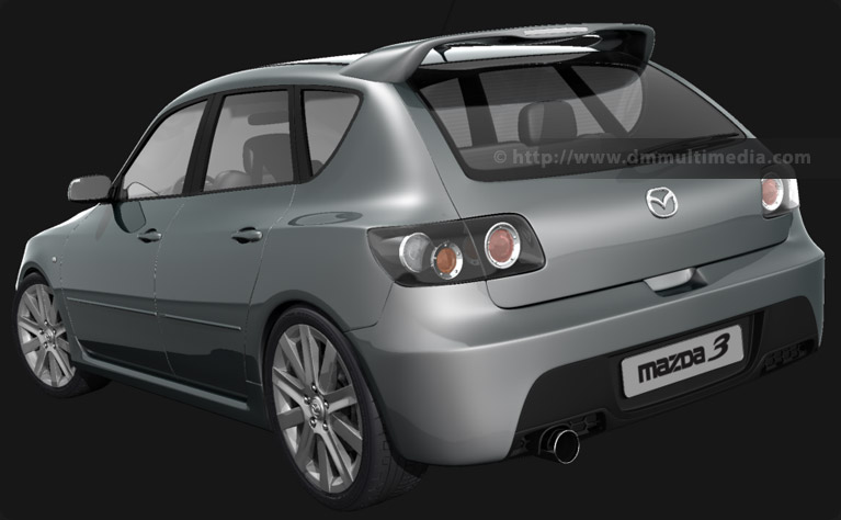 Mazdaspeed 3 rear view