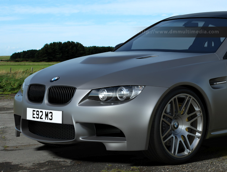 Arch & Design : Base layer Matte finish (like BMW Frozen Silver) in an environment