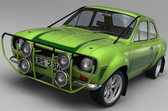 MK1 Escort Works in Lemans Green