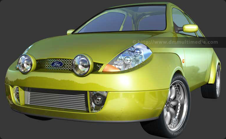 Ford Sport KA - close-up with minilight wheels