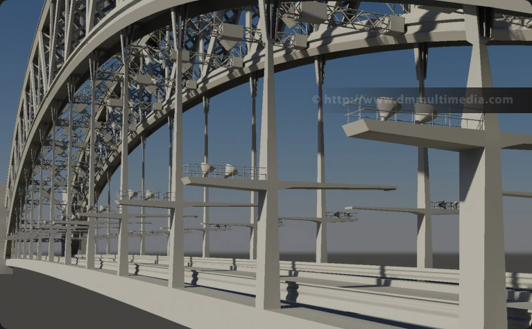 Free 3ds Max model Sydney-style bridge