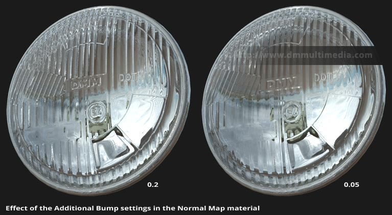 Different Additional Bump map settings and their effects
