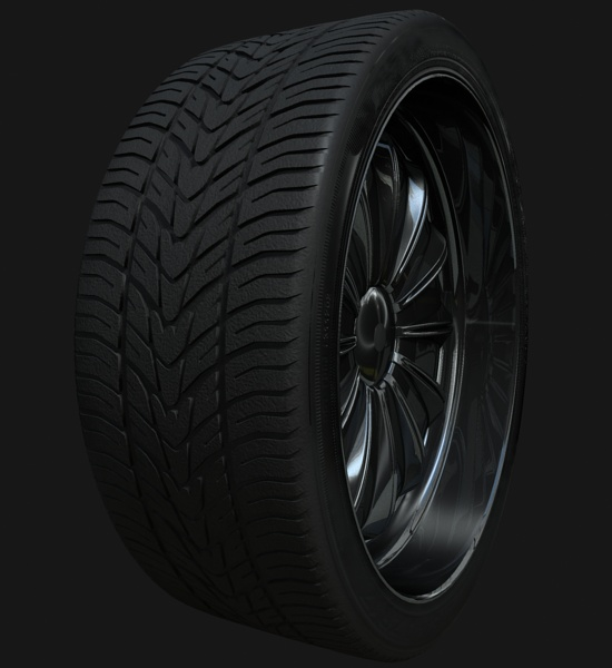 Tyre texture using MR in 3ds Max