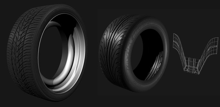 Alternative profile used to create Tyre