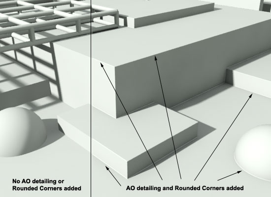 Arch&Design Rounded Corners in Mental Ray